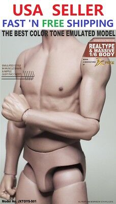1 6 Scale Male Muscular Body Jxs01 For Hot Toys Ttm22 Worldbox At011