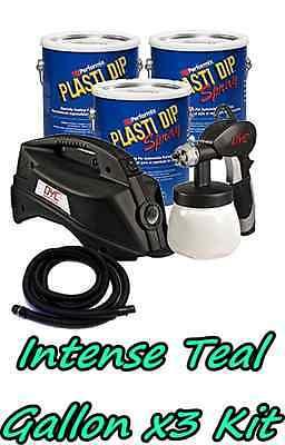 3 Gallons Intense Teal Performix Plasti Dip Dyc Dipsprayer Gun Bundle Package
