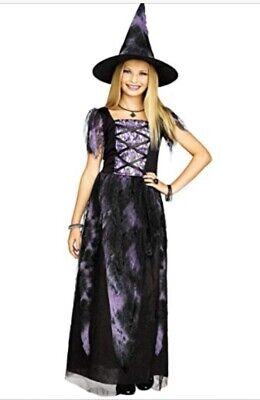 Fast Good Halloween Costumes (Starlight Purple Good Witch Costume Girls Extra Large 12 14 Halloween FAST)