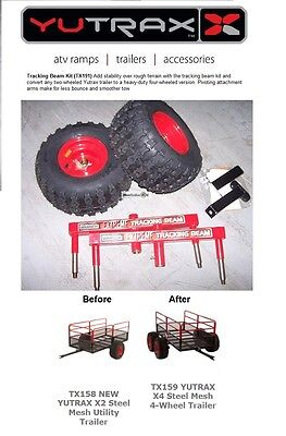 TX191 YUTRAX TRACKING BEAM Utility Tow Cart Trailer Conversion Kit SCRATCH DENT