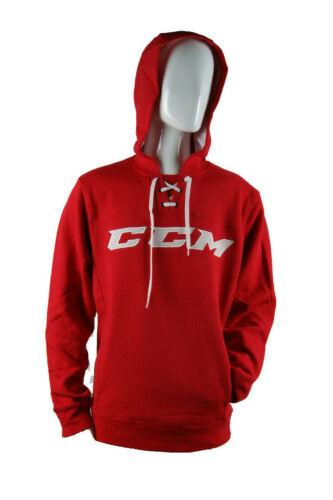 CCM Hockey Red/White Adult/Senior Hoody Pullover Sweatshirt