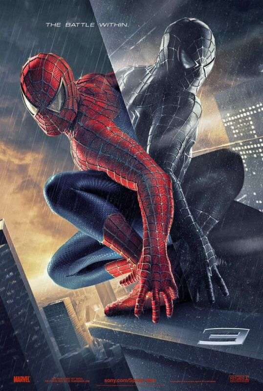 SPIDER-MAN 3 MOVIE POSTER 2 Sided ORIGINAL Advance Ver B 27x40 TOBEY MAGUIRE