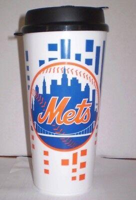 Mets Plastic Tumblers - NEW YORK METS 32oz PLASTIC TRAVEL TUMBLER