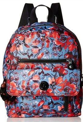 NEW Kipling Carrie small backpack Rucksack Festive Floral Rrp£89