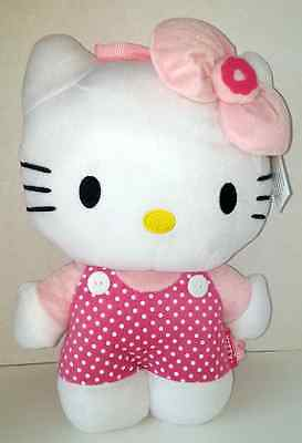 Hello Kitty Full Body 14-Inch Plush Backpack With Pink Dots