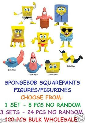 Spongebob Squarepants Figures Figurines Choose 8pcs / 24 Pcs / 100 Pcs Bulk