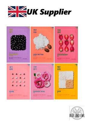 Pure Essence Mask Sheet-Pearl, Acai Berry, Strawberry,Shea Butter,Rice HOLIKA