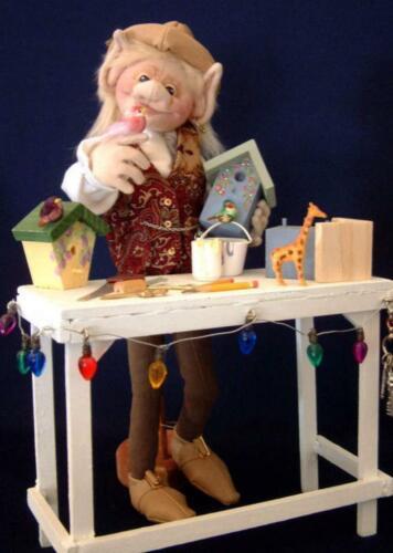 """Cloth Folk Art Doll Pattern """"Shae Elf"""" By Shelley Hawkey"""