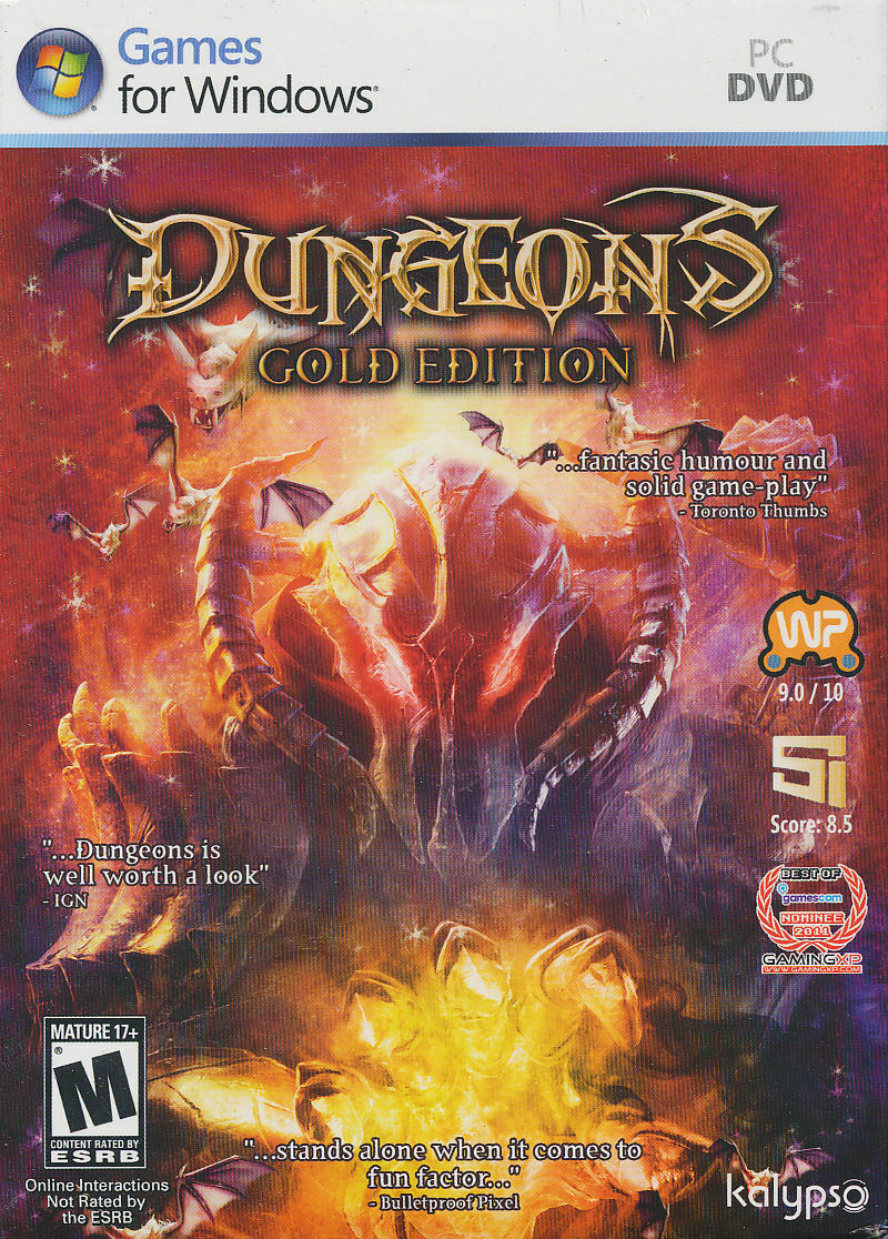 Computer Games - Dungeons Gold Edition PC Games Windows 10 8 7 XP Computer dungeon keeper NEW CE