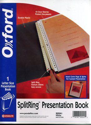 New Oxford Splitring Landscape Binder Folder File Presentation Portfolio 12 Page