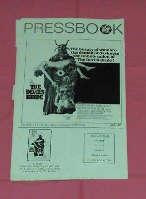 original THE DEVIL'S BRIDE PRESSBOOK Christopher Lee Charles Gray