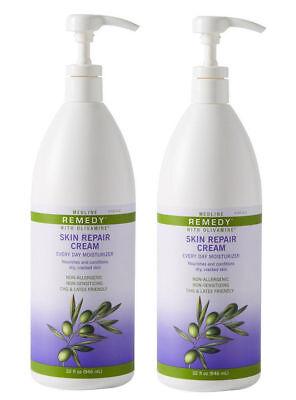 New Medline Remedy Olivamine Skin Repair Cream 32 Oz Pump  Pack Of 2 Bottles