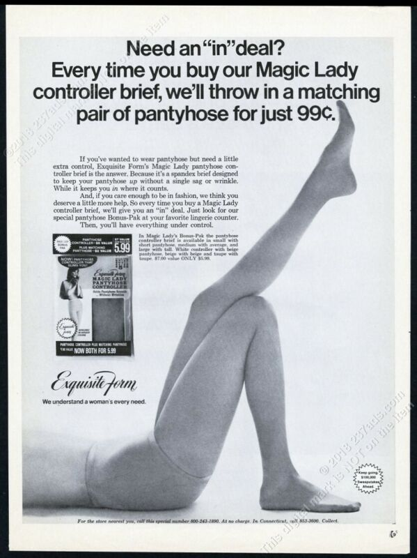 1969 Exquisite Form pantyhose woman