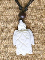Ethnic Tribal Carved Turtle Pendant Brown Bead N0071 -  - ebay.co.uk