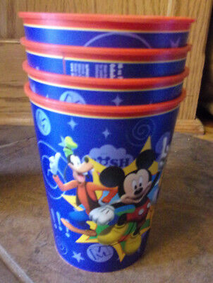 MICKEY MOUSE  4-PC  PLASTIC CUP SET  NEW](Mickey Mouse Plastic Cups)