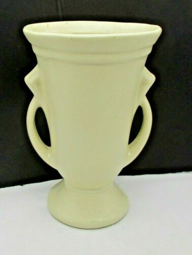 Vintage Off-White Pottery Vase