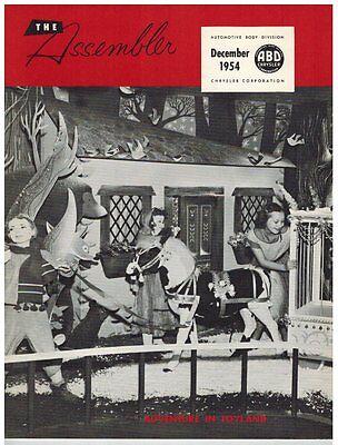 CHRYSLER THE ASSEMBLER MAGAZINE Automotive Body Division DECEMBER 1954 Auto Car