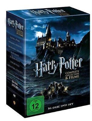 Harry Potter Box 16 DVDs Komplettbox Teil 1+2+3+4+5+6+7.1+7.2 + 8 x Bonus Disc