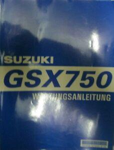 * SUZUKI GSX 750  WERKSTATTHANDBUCH Wartungsanleitung 1997  ORIGINAL SUZUKI  * - Bregenz, Österreich - SUZUKI GSX 750 W WERKSTATT-HANDBUCH WARTUNGSHANDBUCH ORIGINAL!!! Stand September 1997 / Modell 98 deutsch ,guter Zustand - unbenützt - 320 Seiten !!!!!! - Viele weitere Suzuki Wartungsanleitungen + Ergänzungsbände + Teilekataloge - Bregenz, Österreich