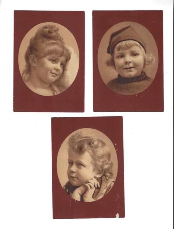 Lot Of 3 SAPOLIO SOAP Victorian Trade Cards, Cherubs, Enoch Morgan & Sons
