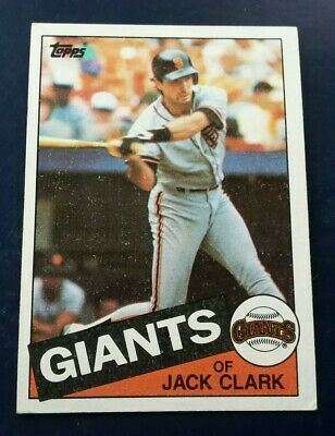 1985 Topps Jack Clark San Francisco Giants #740 for sale  Indianapolis