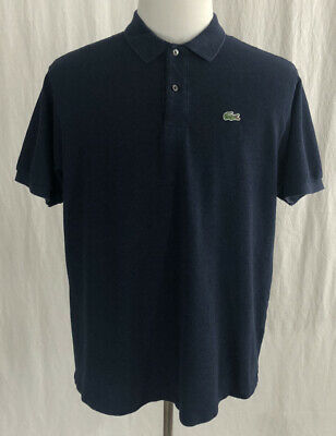 Lacoste - Navy Blue Cotton Polo Shirt - Men's 7