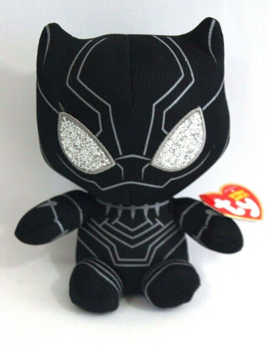 marvel black panther beanie baby plush soft