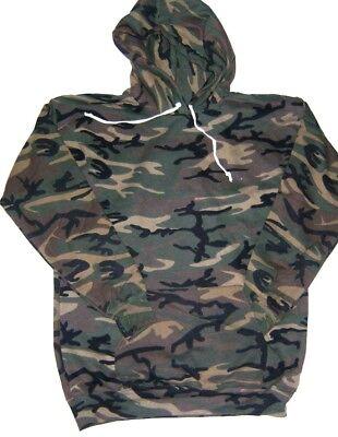 Mens Ladies Camouflage Pullover Hooded Sweatshirt  Camo & Desert Hoodie S-2XL