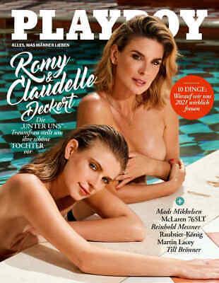 Playboy 02/2021  Romy & Claudelle Deckert die  UNTER UNS-Traumfrau  mit Tochter