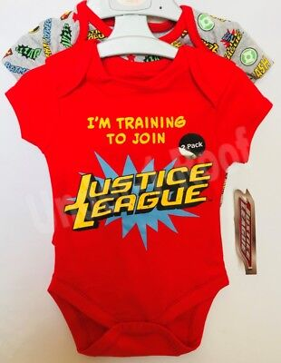 PRIMARK BABY BOYS JUSTICE LEAGUE 2 PACK VESTS - Brand New With Tags ()
