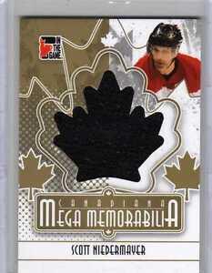 SCOTT-NIEDERMAYER-11-ITG-Canadiana-Mega-Memorabilia-Jersey-GOLD-10-SP-Ducks