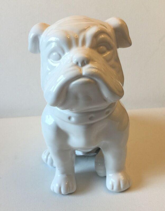 White English Bulldog Statue/Figurine Ceramic