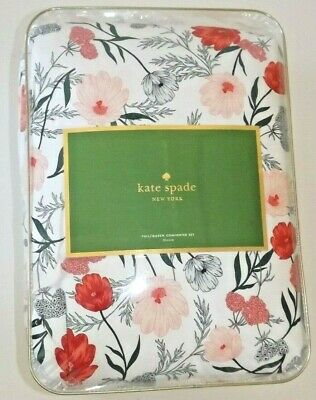 Kate Spade BLOSSOM Full / Queen Comforter & Pillow Shams Set NEW Floral Kate Comforter Set