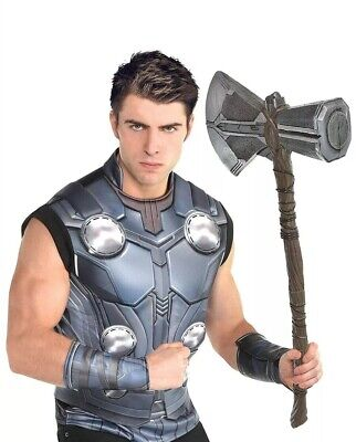 Thor Halloween Costume (Thor Halloween accesory Kit Costume Adult With HAMMER STD ONE)