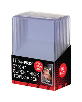 Ultra Pro Top (Pack of (10) ~ Ultra Pro Extra Thick Clear Rigid Top Loaders ~ 130pt ~)