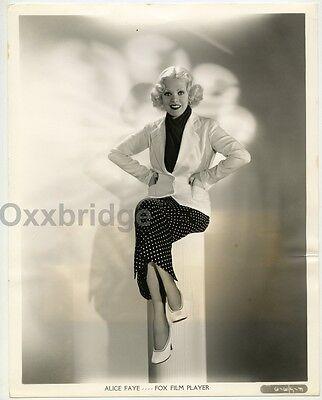 Alice Faye Glamorous Portrait GENE KORNMAN Original 1935 Fashion Photo