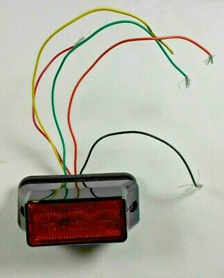 Federal Signal Impaxx Ipx302 Amber 3 Led Surface Mount Lighthead Warning Light
