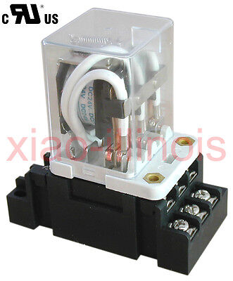 New Jqx-38f 120vac 11 Pin 3pdt Coil Power 40a Relay With Socket - R40a120vac