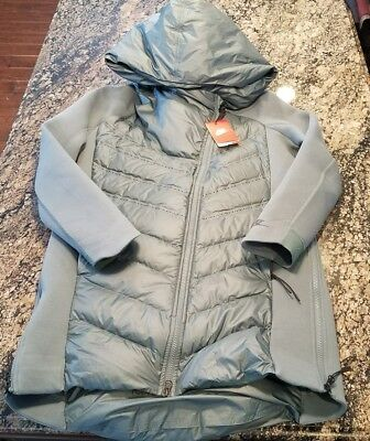 c015907b8808 Nike Sportswear Tech Fleece AeroLoft Women s Down Parka Green 804976-392  Large