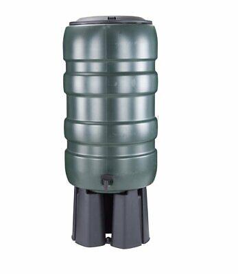 Whitefurze 150L Water Butt Set With Stand Diverter & Tap Garden Waterbutt