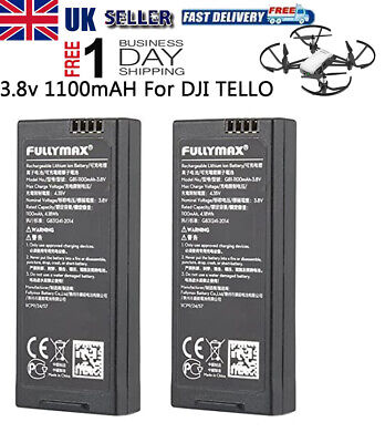 2pcs 1100mAh 1S 3.8V Li-po Battery for DJI Tello RC Quadcopter Drone Battery UK