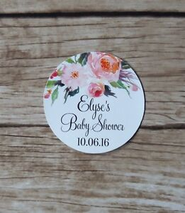 24x Personalised Stickers - Baby Bridal Shower, Thank You Stickers Favour tag