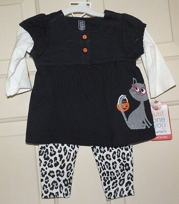 New Girls size 3 Months 3M Halloween Outfit 2 piece set Cat Leopard Pants - Leopard Halloween Outfits