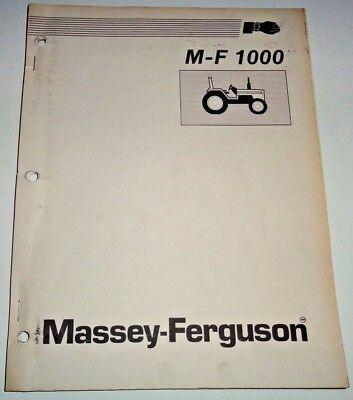 Massey Ferguson 1010 1020 1030 1045 Tractor Repair Time Schedule Flat Rte Manual