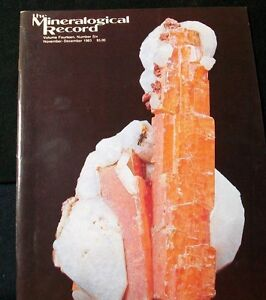 OCL - MINERALOGICAL RECORD  MAGAZINES - 20+ DIFFERENT ISSUES - CHECK LISTING