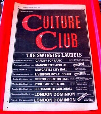 Culture Club UK Tour Vintage ORIG 1983 Press/Mag ADVERT Poster-Size Boy George