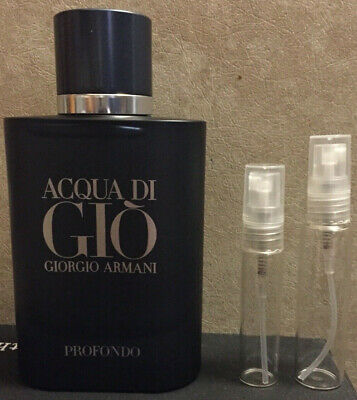 Acqua Di Gio Profondo 5/10 ML Cologne Sample Glass Decant New Release
