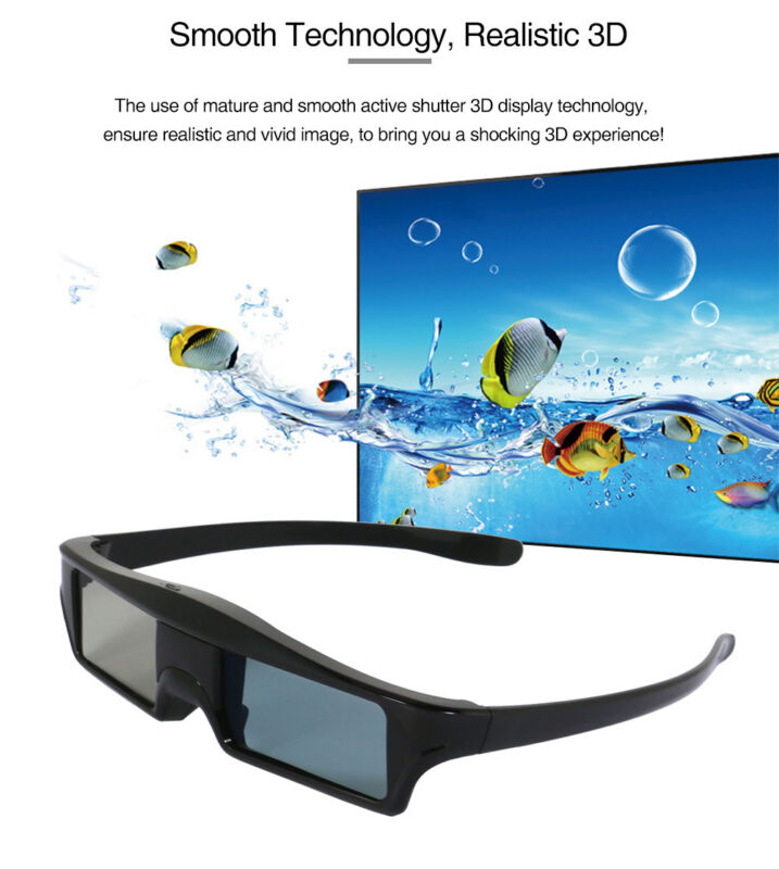 2x Blue-tooth 3D Active Shutter Glasses for Sony Samsung Panasonic Sharp 3DTV US