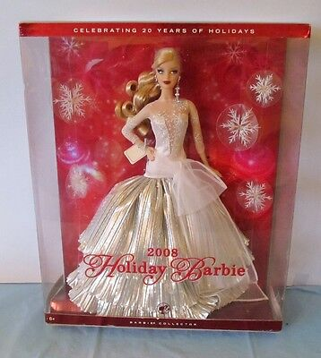 NEVER REMOVED FROM BOX 2008 HOLIDAY BARBIE DOLL