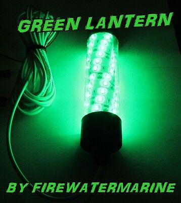 Underwater Fishing Light (12V LED GREEN UNDERWATER SUBMERSIBLE NIGHT FISHING LIGHT crappie ice squid boat )